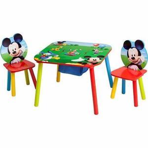 Set De Mesa Y Sillas Con Almacenamiento Mickey Mouse - Impor