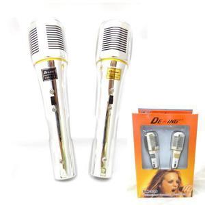 Set X 2 Microfono Vintage Dinamico Estilo Retro Incluye Cabl
