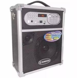 Cabina De Sonido Sonivox Portatil Bluetooh Usb Microfono