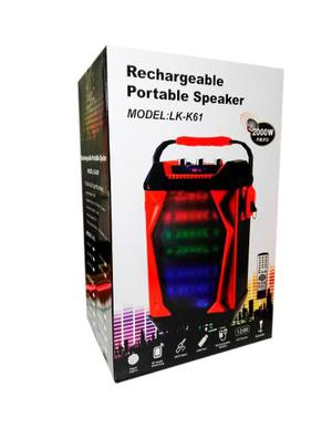 Parlante Amplificador Karaoke Bluetooth Usb Lk-k61