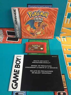 Pokemon Fire Red Inglés Con Manual De Game Boy Advance