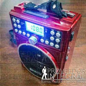 Radio Recargable Multibandas Am Fm Sw Mp3 Usb Sd
