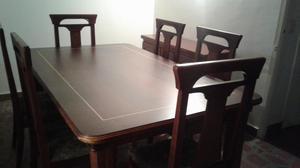 Comedor 6 puestos con bases en marmol bife posot class for Comedor 12 puestos