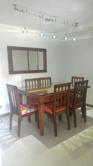 Espejo y mesa pura madera posot class for Mesa comedor espejo