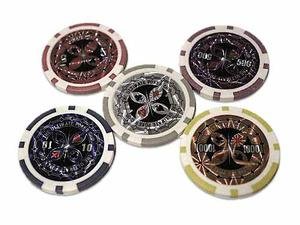 Fichas Poker Lujo Peso Metalizadas  Casino Juego Cartas