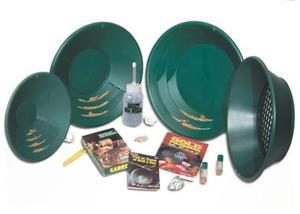 Oro 4 Bateas Verdes Garrett Kit Busqueda Pepitas Gold Pan