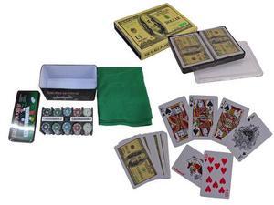 Set De Poker Con 200 Fichas + Juego De Cartas. Envío Gratis