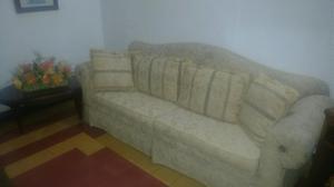 Sofa con Cogines Y Mesa de Centro