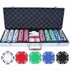 Super Maletin Lujo Poker 500 Fichas Tipo Casino Profesional