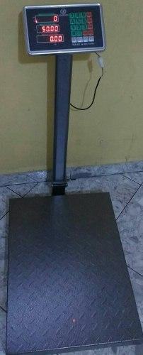 Bascula, Balanza Pesa De 500 Kilos Plataforma Recargable Icm