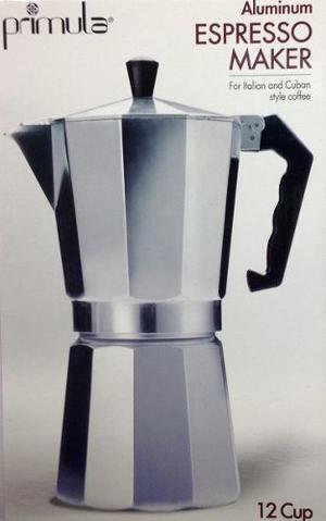 Cafetera Espress Primula Aluminio 12 Tasas/ Cups Para Estufa