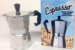 Cafetera Espresso Primula En Aluminio Pesado 1 Cup Ref