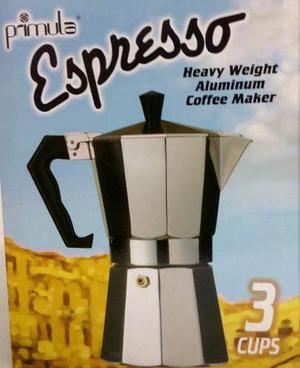 Cafetera Espresso Primula En Aluminio Pesado 3 Cups Ref