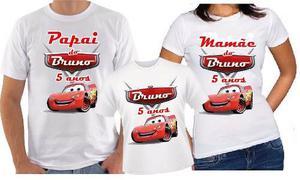 Camiseta Con O Sin Musg Personalizadas Papa, Mama E Hijo