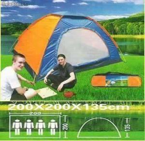 Carpa Camping Colores 4 Personas 2 X 2 X 1.35 M Impermeable