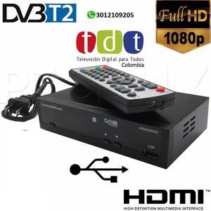 Decodificador Tdt Receptor Tv Digital Dvb T2 Antena Hdmi
