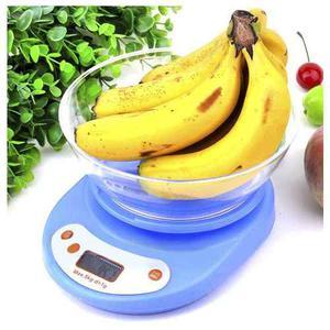Gramera Balanza 5kg Digital Cocina Con Recipiente -gr Y Onz