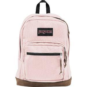 Morral En Cuero Y Tela Jansport Right Pack Backpack Rosa
