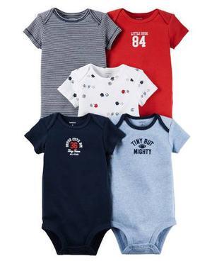 Set De 5 Bodies Carters Para Bebe Niña / Niño