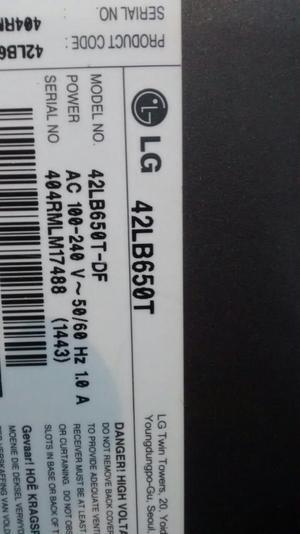 Tv Lg 42 P. 42lb650t para Repuestos