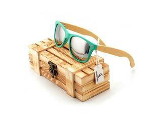 Gafas De Sol Bambú Estuche De Lujo - Gafas Madera Uv 400