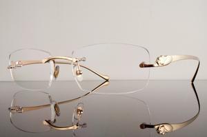 Montura Óptica Panthère Gold Cartier Pantera París® 3