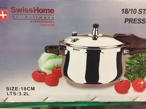 Olla A Presion Acero Inoxidable Swisshome 3.2 Litros Nueva