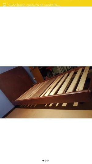 Cama sencilla en madera posot class for Cama sencilla
