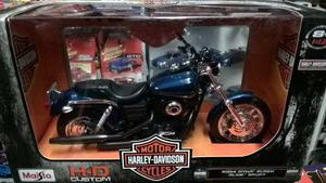 Moto De Coleccion Harley Davidson A Escala cms.