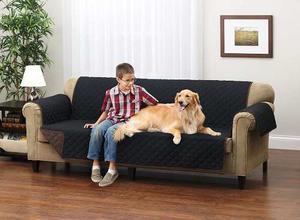 Protector Muebles Reversible De Lujo Para Sofa Negro / Gris