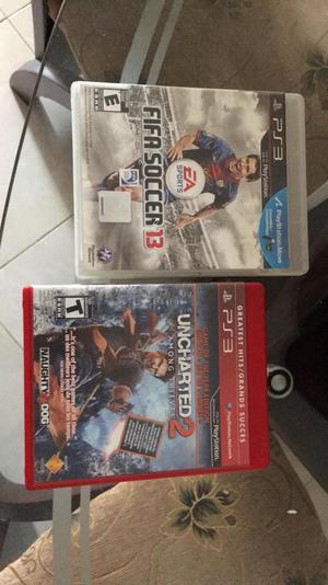 Uncharted 2 Y Fifa 13 para Ps3