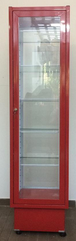 Vitrina Vidrio Aluminio Rojo Fina