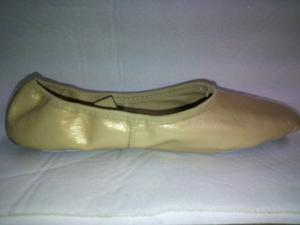 Zapatillas Ballet Cuero Natural