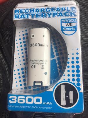BATERIA RECARGABLE PARA CONTROL REMOTO Wii,  mAh