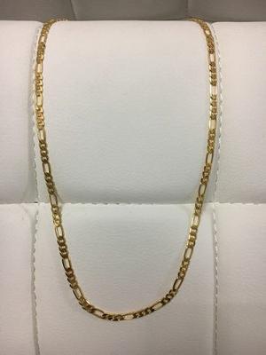 Cadena Cartier Acero Enchape En Oro D 18k Hombre 20 Pulgadas