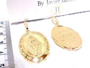 Dije Medalla Milagrosa O Guadalupe En Oro De 18k