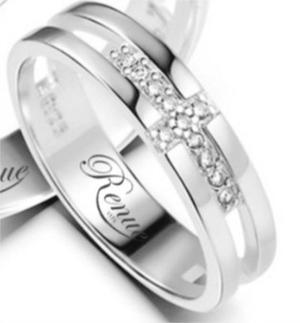Argollas Matrimonio Oro Blanco Circon 18k Compromiso C/u