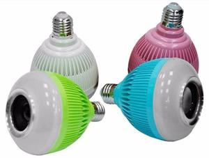 Bombillo Parlante Bluetooth Control Remoto Luces Colores Mp3