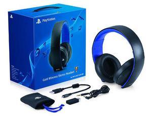 Audífonos Sony Gold Wireless Headset Para Ps4, Ps Vita Y