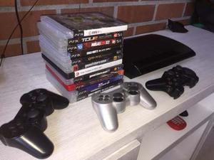 Play Station 3 Super Slim, 3 Controles, 11 Juegos