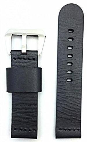 22mm Negro, Estilo Panerai, Venda De Reloj De Cuero Liso