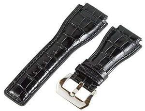 24mm Cuero Croco Negro Repuesto Reloj Banda Correa - Para