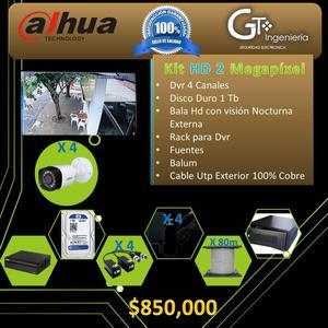 Kit De 4 Camaras De Seguridad p 2 Megapixel