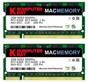 Memoria Ram Komputerbay Macmemory 2x2gb Pcmhz Ddr2