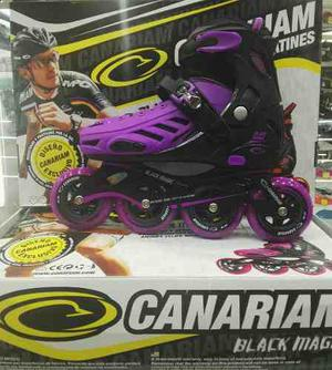 Patines Semiprofecional Canariam Blak Magic Todas Las Tallas