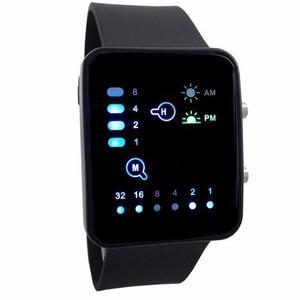Reloj Binario Digital Unisex Color Negro