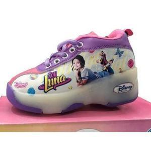 Zapatillas Con Ruedas Teni Patin Soyluna Disney Con Luces