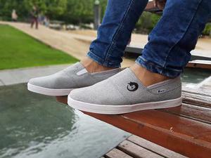 Zapatos Mocasin Gris Deportivos Originales Maxi®