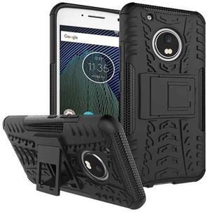 Forro Protector Armadura Motorola Moto G5 Plus 5ta + Vidrio