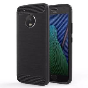 Forro Protector Funda Carbon Case Motorola Moto G5 + Vidrio